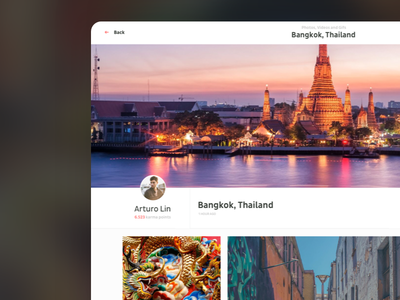 Introducing: Travelbook interaction comments image friends project travel red clean new visual design ux ui