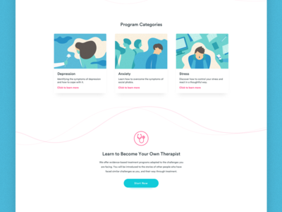 Braive LMS : Landing page mental health landing page design learning ux ui clean white lms