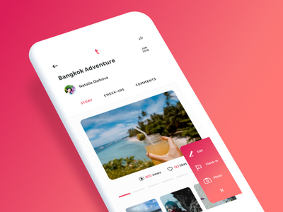Travelbook iOS App red clean ios11 booking travel new ios app ux ui