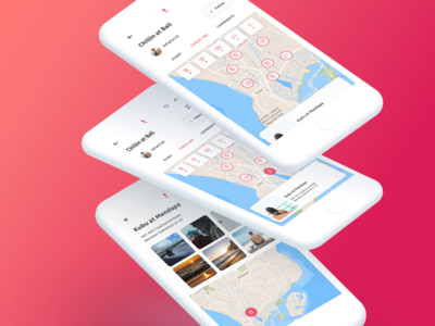 Travelbook Check-Ins red clean ios11 booking travel new ios app ux ui