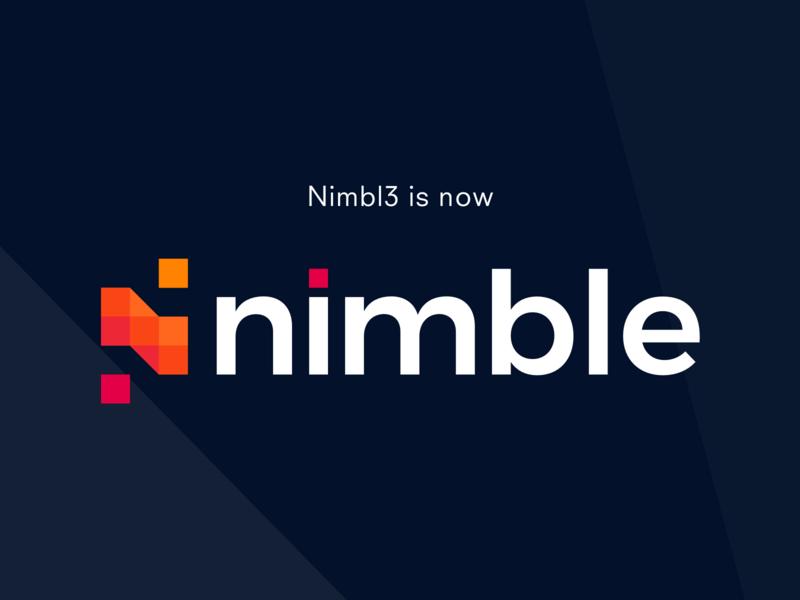 Nimbl3 is now Nimble icon branding logotype logo identity new