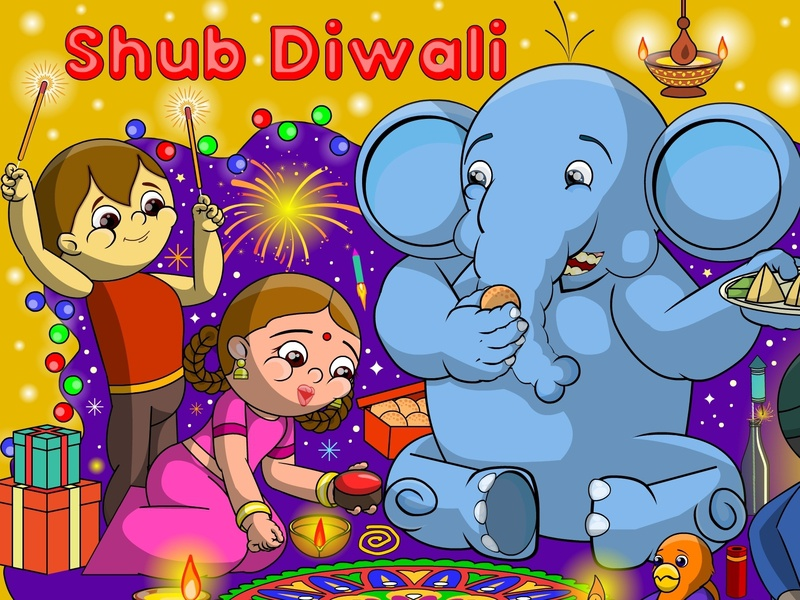 Happy Diwali1 festival poster indian culture deepawali diwali illustration