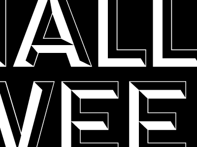 Some shaded letters design type