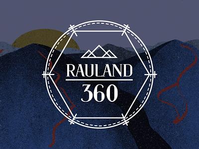 Rauland 360 logo brand blue ski logo