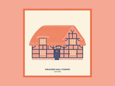 Brits and Mortar 3/3 vectorial illustration drawing vector pink england uk building housing house