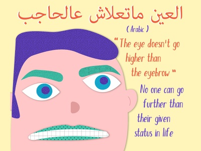 The Eyes Have It 4-4 pastels idiom language pink vector illustration drawing yellow posters illustration poster postcard vector arabic