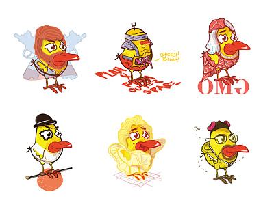 The Chicken Chickens chicken design illustration character