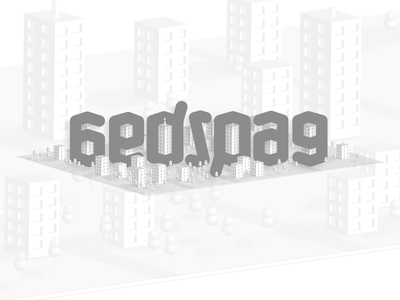 Београд (Belgrade) ambigram 3d lowpoly belgrade beograd