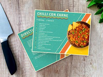 Dribbble Recipe Card print cooking recipe card recipe menu weekly challenge weekly warm-up dribbbleweeklywarmup