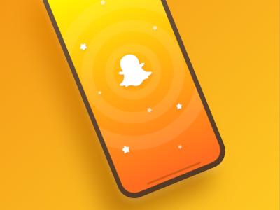 Snapchat Splash Screen Concept concept design mobile x iphone-x iphone redesign snapchat splash-screen screen splash