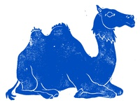 Rubber Block-Print Camel