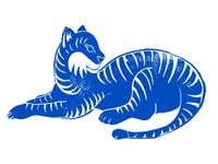 Rubber Block-Print Tiger