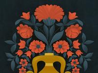 Scandinavian Vase with Flowers