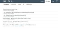 Writus Published Posts