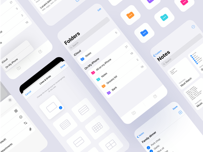 Small updated concept for apple notes design concept notes app notes application app design app uidesign ui uiux