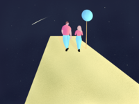 Walking in Space Illustration