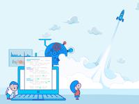Illustration for Salesforce Development Company Website