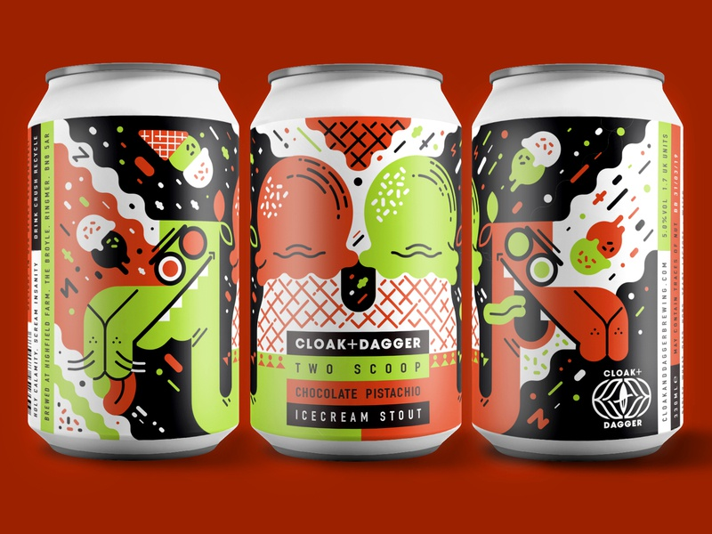 Two Scoop can design ice-cream camel vector beer can beer design design beer branding beer illustration