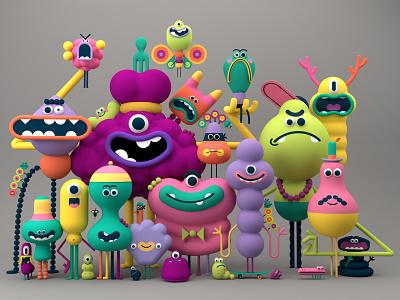 Monster portrait 3d character modeling 3d design design cgi character illustration charcter design monsters maxon3d maxon c4d 3d artist 3d art 3d