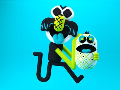 3D Pineapple run