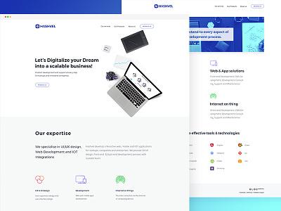 Hashvel - Landing Page Design hashvel modern agency webdesign website minimal layout homepage landingpage web ui