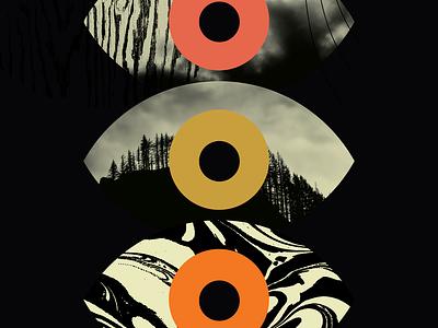 Poser 816 eyeball eye vector type make something everyday graphic illustration art poster color design