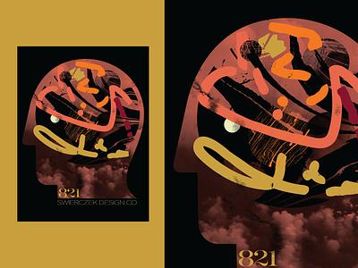 Poster 821 poster design everyday 365 graphic design brain head graphic poster make something everyday digital illustration design