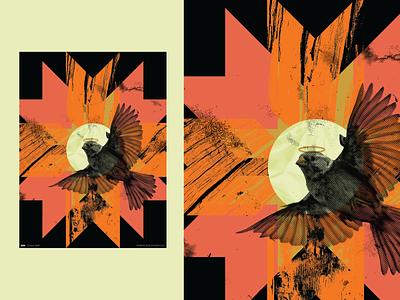 Poster 826 texture bird poster design everydays everyday half tone 365 vector make something everyday graphic illustration poster art design