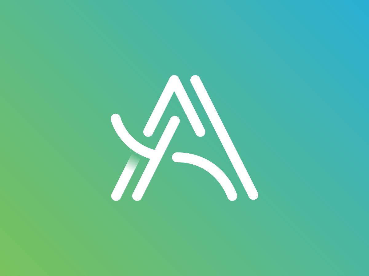 A Logo logo letter a a