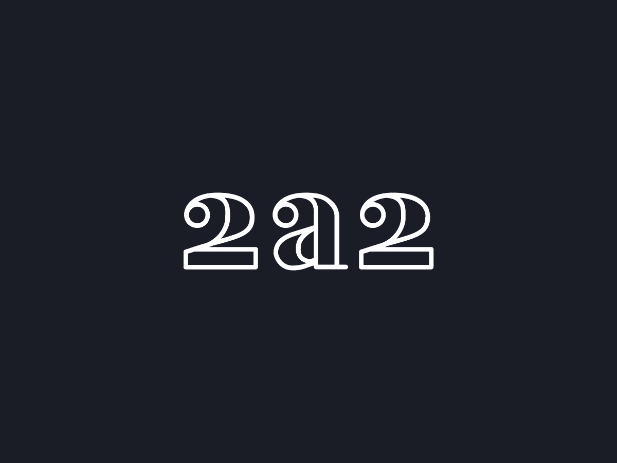 2a2 letering 2a2 wine bar logo
