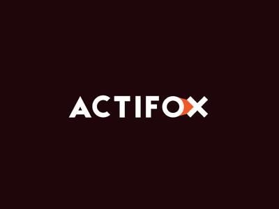 actifox orange a logotype hide sign brand logo equipment sport actifox fox