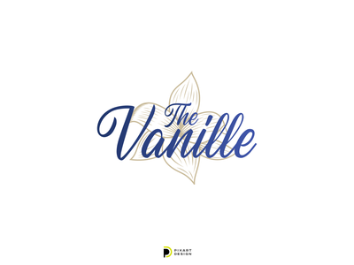 The Vanille icon blue vector brand identiny dribbble typography logotype cute color pixart branding colors illustration design logo