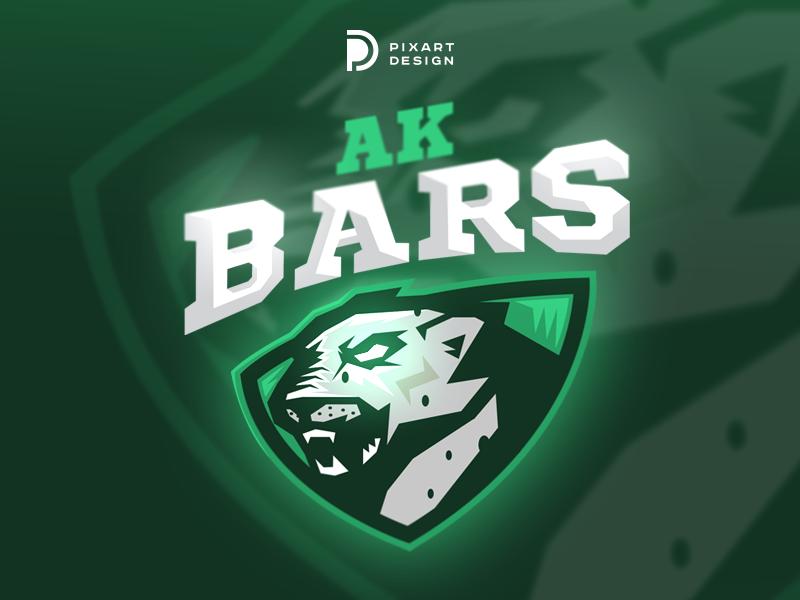 AK BARS esport team kazan hockey colors vector design illustration logotype dribbble pixart branding animal color logo