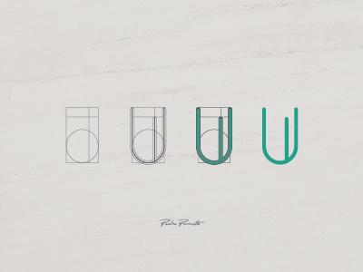 "Platanus ""U"" logotype brand logo grid typography letra tipografia"