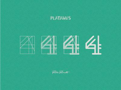 "Platanus ""4"" logotype brand logo grid typography letra tipografia"