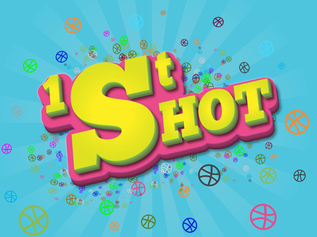 First Shot design vector illustration