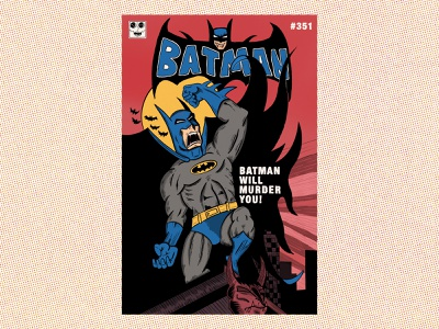 Batman #351 Bootleg comic book comic art procreate bootleg comic batman hand type hand drawn illustration