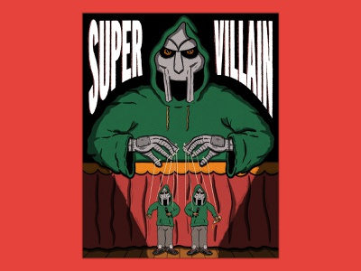 SUPERVILLAIN poster hand type hand drawn illustration music rapper hip-hop hiphop supervillain madvillain mf doom