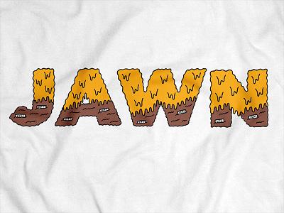 JAWN Whiz Wit whiz wit lettering food whiz cheesesteak philadelphia philly typography hand type hand drawn illustration