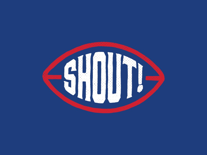 Shout! logos sports nfl buffalo bills bills football branding typography hand type hand drawn illustration