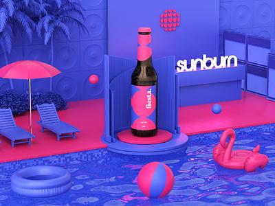 Fiesta Beer | Concept art direction minimalism minimalist minimal designer octane cinema4d artist art 3d graphic design design
