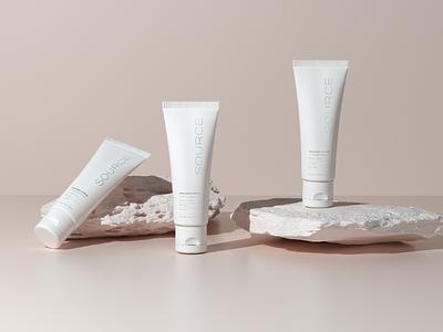 Source Skincare Concept art direction minimalism minimalist minimal designer octane cinema4d artist art 3d graphic design design
