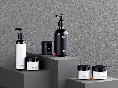 Hedo Skincare minimalist packaging design user interface user experience uiux white minimalism art design graphic design minimal