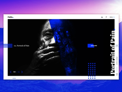 Pablo - Photography Portfolio Website  dark photgraphy photoshop template user experience user interface uiux blue and black website portfolio