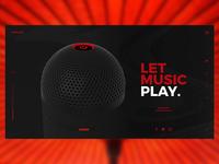 Kreate  Music Company Website design Concept