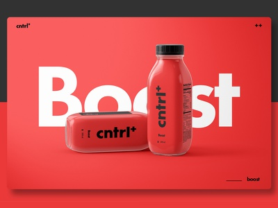 Cnrl+ | Boost bottle healthy red minimalistic minimalist minimal product design product packaging design packaging graphics graphic design