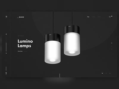 _ Muro simple product lamp ui design black and white minimalism minimal product design interiors web design graphic design