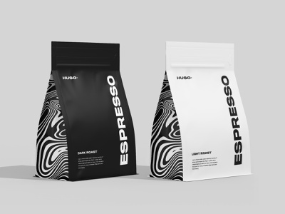 Huso Coffee Design minimal clean art abstract coffee shop coffee product branding packaging design marketing graphic design logo illustration identity design graphic design digital art designs design bright branding