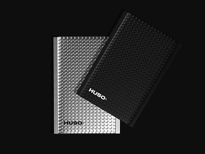 Huso Stationary Folder stationary design minimal clean art branding design product packaging design marketing logo illustration identity design graphic design digital art design art designs bright branding