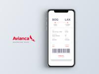 Avianca - Boarding Pass